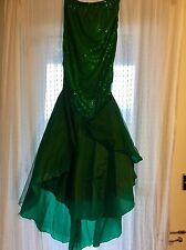 Ariel Little Mermaid Fancy Dress Ladies, Costume Skirt, Sequin Green Medium