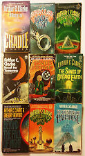9 PB SF Lot - Arthur C. Clarke - Imperial Earth + 8 More Classics