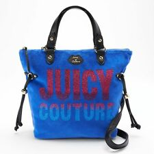 NWT Juicy Couture Velour Mini Convertible Tote Satchel Designer Shoulder Bag -