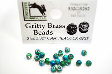 Gritty Brass Beads Ø 3,8mm Hareline 20 ST esibisce OTTONE beads Peacock Grit
