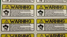 Chuck Norris Warning Sticker Vehicle - Car - Motorcycle Sticker Harley Davidson