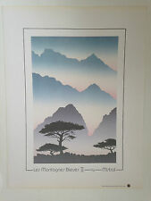 SERIGRAPHIE LES MONTAGNES BLEUES II - BY MISTRAL CANADA 1987
