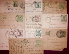 lot of 10 pre independence post cards - India