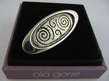 Ola gorie Plata eday Broche Pin Orkney De Roca Tallado En Caja escocés 1995 Viking