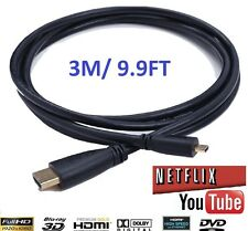 3M Tesco Hudl2 / Hudl1 Android Tablet Micro HDMI TV Gold Cord Lead Wire Cable