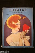 THEATRE MAGAZINE February 1924 Valentine Woman heart Baskerville art fashion