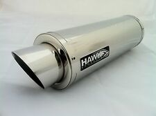 Kawasaki ZX7R 1996 - 2003 Hawk GP Stainless Steel Race Exhaust Silencer Can