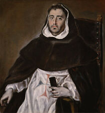 Oil painting El Greco - Portrait of a Trinitarian Friar male figures no framed