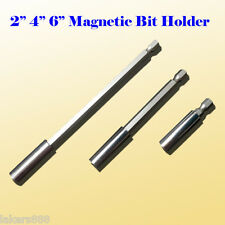 "3x Magnetic Bit Extension Holder 2""/4""/6"" Quick Change 1/4"" Hex Shank"
