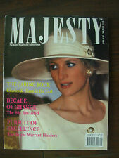 MAJESTY MAGAZINE JANUARY 1990 - MONTHLY ROYAL REVIEW - PRINCESS DIANA
