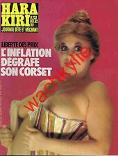 Hara Kiri n°253 du 10/1982 Michèle Bernier Fausses publicités