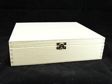 Caja De Té De Madera Lisa 12 compartimentos Decoupage Craft