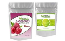 60 PURE Raspberry Ketones TRIPLE STRENGTH 600mg 60 Green Tea Extract Diet Pills