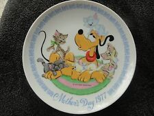 Schmid Mother's Day Disney 1977 Pluto's Pals Cats Kittens Collectible Plate