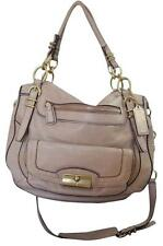 Coach #19343 Kristin Pinnacle Leather Laila Satchel Light Gold Metallic Bag
