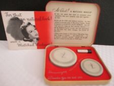 "Vintage RICHARD HUDNUT ""Marvelous"" Matched Makeup Powder,Rouge, & Lipstick Set"