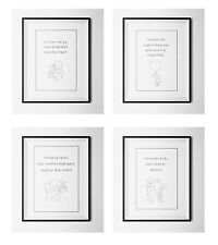 Set of 4 Winnie the Pooh quote print, Baby/Birth Nursery Picture