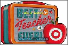 TARGET 2011 USA BEST TEACHER EVER COLORFUL LUNCH BOX COLLECTIBLE GIFT CARD