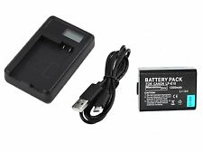 Maxsimafoto® - Fully compatible Battery & USB Charger for Canon LPE10 LP-E10