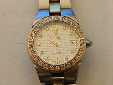 GENUINE CONCORD SOLID 18K FULL DIAMOND STEEL MARINER DATE LADIES WATCH