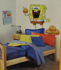 "SPONGEBOB SQUAREPANTS wall stickers MURAL 7 big decals hamburgers 39"" tall decor"