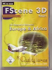 Fscene 3d Volume 1 Europe & Africa Addon para Flight Simulator 2004 (PC)