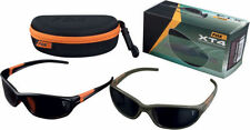 Fox xt4 polarised sunglasses, black and orange frame,grey lens