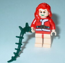 BATMAN #09B Lego Poison Ivy Holiday Mrs Clause w/spiked whip NEW custom 7785