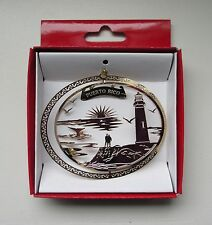 Puerto Rico Brass Christmas ORNAMENT Lighthouse Travel Souvenir Gift