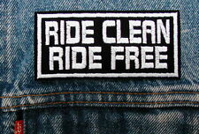 Narcotics Anonymous RIDE CLEAN Biker Motorcycle Patch by DIXIEFARMER in white