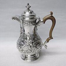 Giorgio II d'argento Caffettiera da William Lady, Londra 1750. STOCK ID 8801