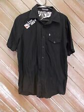 Indy Car Series Volcom Shirt Mens Casual  Black Tailored Short Sleeve M