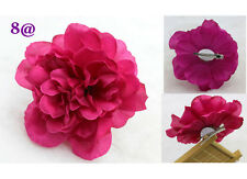 NEW 12cm Big Romantic RED Silk Hair Accessory Flower Hairpin Prom Wedding party