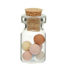 10x leere mini Glasflaschen mit Korken Glas Behälter transparent 26,5x13,5mm