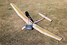 Large Scale HAPPY FACE scratch build Rc GLIDER Plans & Instr. 85 in. wing span