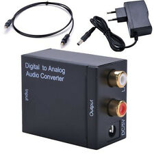Digital Optical Coax Toslink to Analog Audio Converter Adapter RCA L/R + Cable