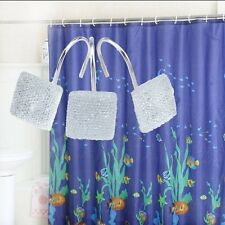12 Diamond Set Shower Curtain Hooks Rod Elegant Rings Bathroom Bath Tub Decor