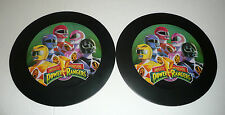 Lot of 2 - Vintage 1994 Mighty Morphin Power Rangers Black Discs Pictures Decor