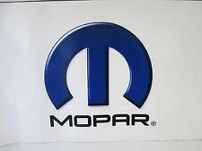 """Banner """"MOPAR"""" Screen Print 1 Side Blue Black 12"""" x24"""" White Vinyl Logo"""