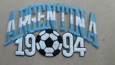 ARGENTINA COLLECTABLE RARE VINTAGE PATCH EMBROIDED 1994 OLYMPIC SOCCER WORLD CUP