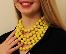KATE SPADE NEW YORK CUT TO THE CHASE NECKLACE MULTI-STRAND BRIGHT HOT YELLOW
