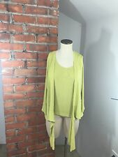 Chico's Lime Green Traveler Tank and Jacket Set