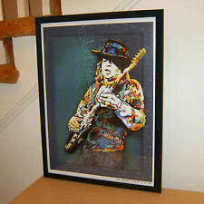 Stevie Ray Vaughan, SRV, Blues Guitar Player, Singer, 18x24 POSTER w/COA 2