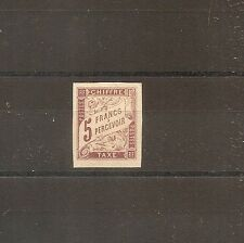TIMBRE COLONIES GENERALES FRANKREICH KOLONIE TAXE N°17 NEUF* MH SIGNE