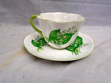 SHELLEY DAINTY LILY OF THE VALLEY Tea Cup and Saucer