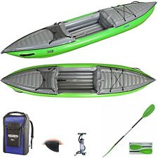 Gumotex  Helios 1 High Pressure Kayak with Dry Bag, Fin, Paddle and Pump - Green