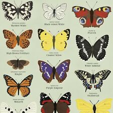 dotcomgiftshop 5 SHEETS OF BUTTERFLIES WRAPPING PAPER