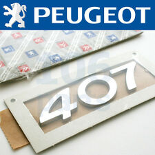 PEUGEOT 407 ESTATE NEW SILVER 407 BODY BADGE 110x35mm NEW & GENUINE O.E PART!
