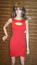 Guess Red Matte Jersey Cut-Out Mini Clubwear Dress SIZE 0 NEW