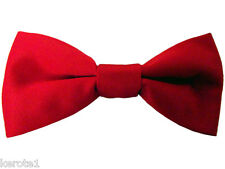 Child Red Satin Tuxedo Bowtie Necktie Bow Tie UK Made (E) Buy Three Get One Free